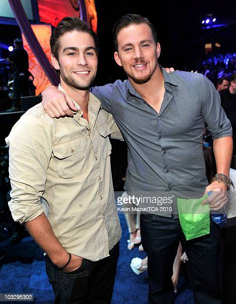 Actors Chase Crawford and Channing Tatum attend the 2010 Teen Choice Awards at Gibson Amphitheatre on August 8 2010 in Universal City California