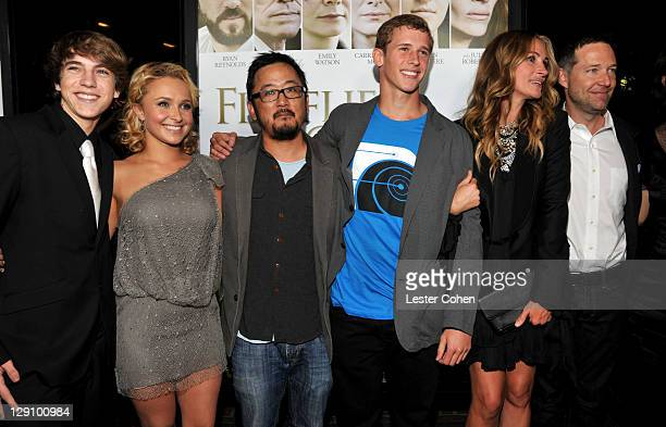 Actors Chase Ellison Hayden Panettiere Writer/Director Dennis Lee actors Cayden Boyd Julia Roberts and George Newbern arrive at 'Fireflies In The...