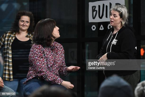 Actors Chelsea Clarke Abra Tabak and Shannon O'Neill members of the Upright Citizens Brigade Theatre visit Build to discuss 'The Del Close Marathon'...