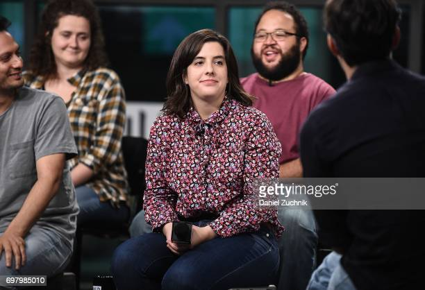 Actors Chelsea Clarke Zach Cherry and Abra Tabak members of the Upright Citizens Brigade Theatre visit Build to discuss 'The Del Close Marathon' at...
