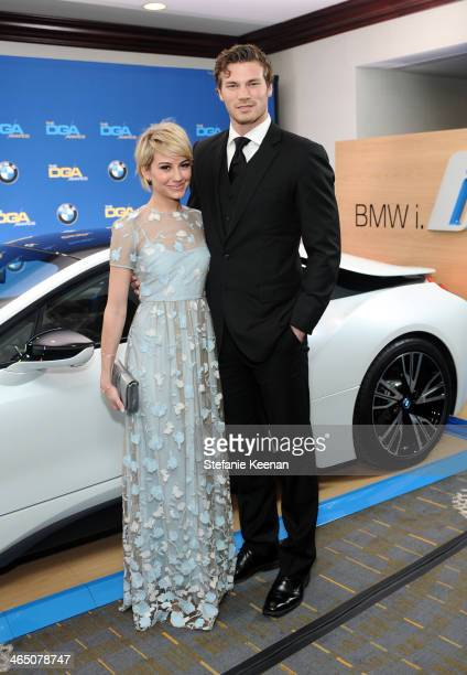 Actors Chelsea Kane and Derek Theler attend the 66th Annual Directors Guild Of America Awards held at the Hyatt Regency Century Plaza on January 25...