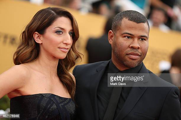 Actors Chelsea Peretti and Jordan Peele attend TNT's 21st Annual Screen Actors Guild Awards at The Shrine Auditorium on January 25 2015 in Los...