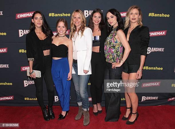 Actors Cherie Jimenez Ryann Shane Tanya Clarke Ana Ayora Eliza Dushku and Jennifer Landon attend Cinemax's 'Banshee' fourth and final season premiere...