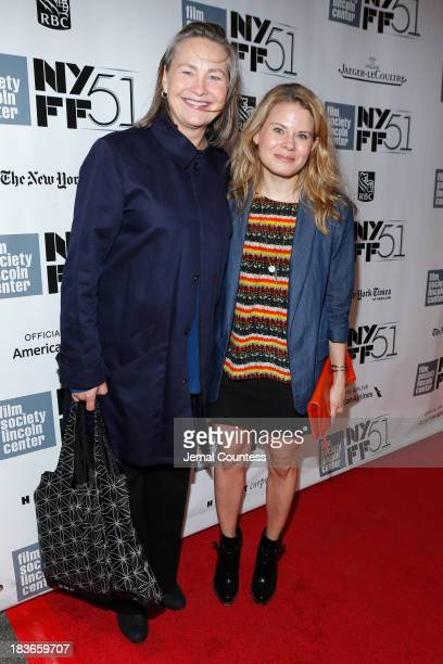 Actors Cherry Jones and Celia KeenanBolger attend the 'All Is Lost' premiere during the 51st New York Film Festival at Alice Tully Hall at Lincoln...