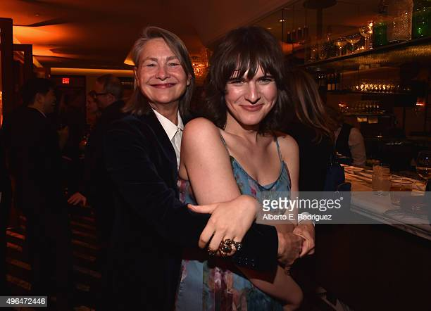 Actors Cherry Jones and Hari Nef attend the after party for the Premiere Of Amazon's 'Transparent' Season 2 at SilverScreen Theater at the Pacific...