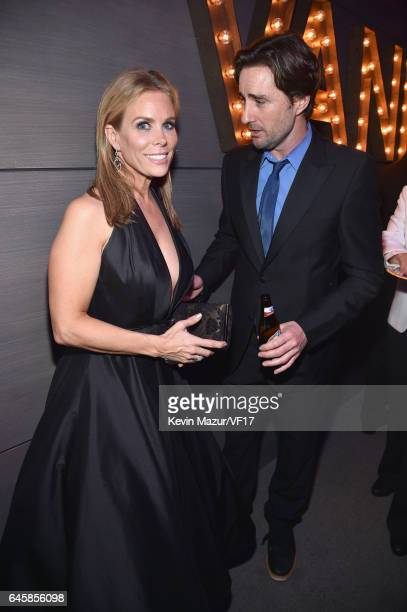 Actors Cheryl Hines and Luke Wilson attend the 2017 Vanity Fair Oscar Party hosted by Graydon Carter at Wallis Annenberg Center for the Performing...