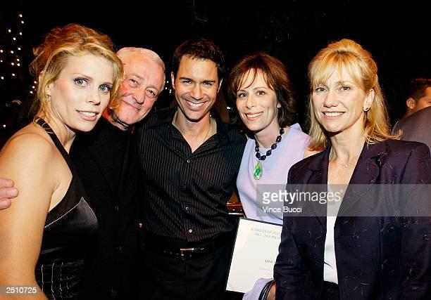 Actors Cheryl Hines John Mahoney Eric McCormack Jane Kaczmarek and Kathy Baker attend a reception for Emmy Award nominees at Spago on September 18...