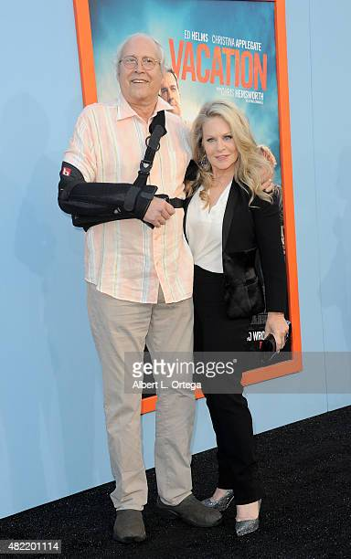 Actors Chevy Chase and Beverly D'Angelo arrive for the Premiere Of Warner Bros Pictures' 'Vacation' held at Regency Village Theatre on July 27 2015...