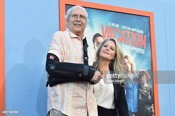 Actors Chevy Chase and Beverly D'Angelo attend the premiere of Warner Bros Pictures Vacation at Regency Village Theatre on July 27 2015 in Westwood...