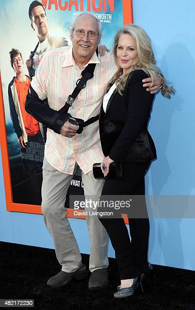 Actors Chevy Chase and Beverly D'Angelo attend the premiere of Warner Bros 'Vacation' at the Regency Village Theatre on July 27 2015 in Westwood...
