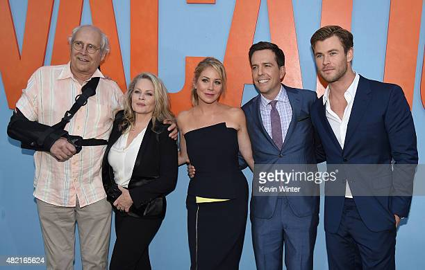Actors Chevy Chase Beverly D'Angelo Christina Applegate Ed Helms and Chris Hemsworth attend the premiere of Warner Bros Pictures Vacation at Regency...