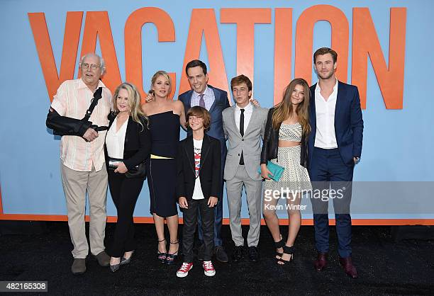 Actors Chevy Chase Beverly D'Angelo Christina Applegate Ed Helms Steele Stebbins Skyler Gisondo Catherine Missal and Chris Hemsworth attend the...
