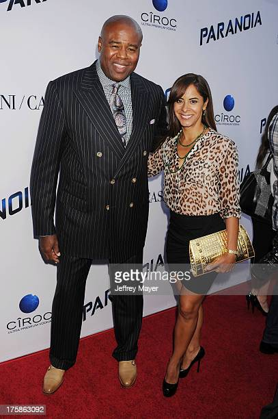 Actors Chi McBride and Julissa McBride arrive at the 'Paranoia' Los Angeles Premiere at DGA Theater on August 8 2013 in Los Angeles California
