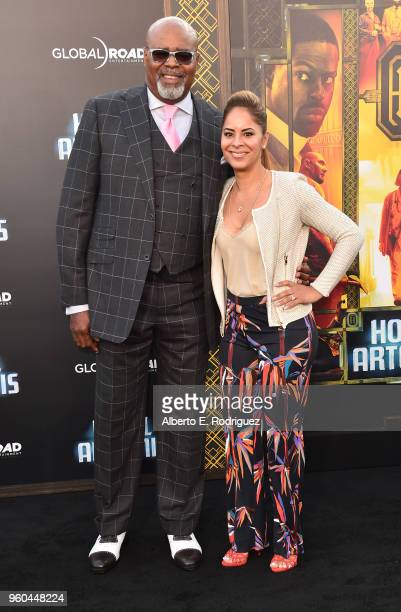 Actors Chi McBride and Julissa McBride attend the premiere of Global Road Entertainment's Hotel Artemis at Regency Village Theatre on May 19 2018 in...