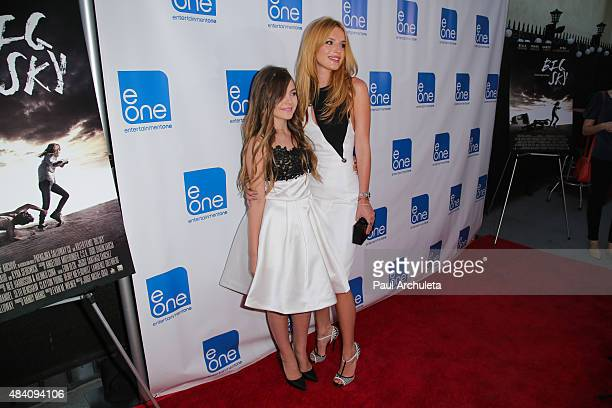 Actors Chiara Aurelia and Bella Thorne attend the premiere of Big Sky at Arena Cinema Hollywood on August 14 2015 in Hollywood California