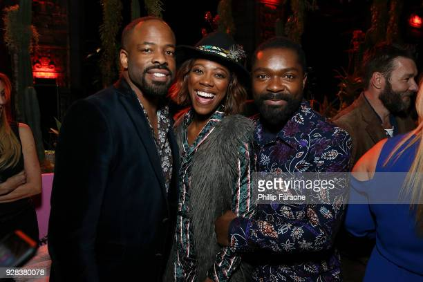 Actors Chike Okonkwo Yvonne Orji and David Oyelowo attend the premiere of Amazon Studios and STX Films' Gringo After Party on March 6 2018 in Los...