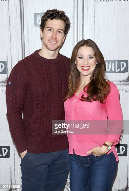 Actors Chilina Kennedy and Evan Todd attend the Build Series to discuss Beautiful at Build Studio on January 19 2018 in New York City