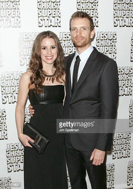 Actors Chilina Kennedy and Paul Nolan attends the after party for the Jesus Christ Superstar Broadway opening night at the New York Hilton Grand...