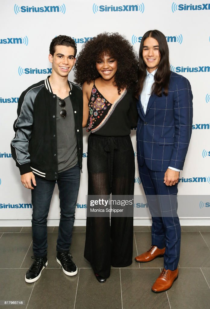 Actors China Anne McClain, Cameron Boyce and Booboo Stewart visit SiriusXM Studios on July 18, 2017 in New York City.