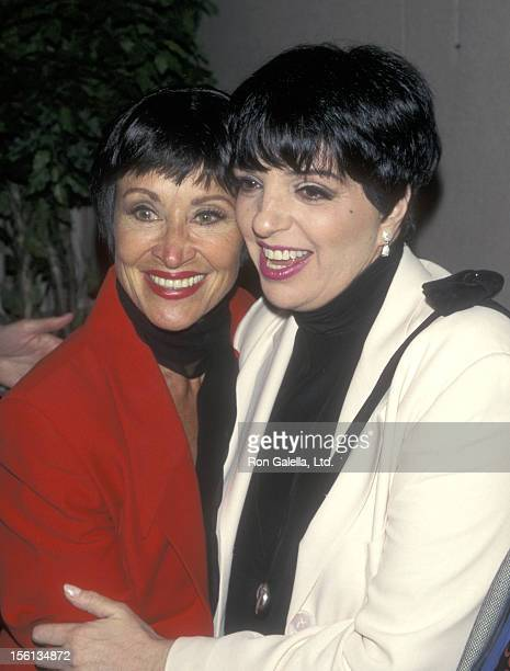 Actors Chita Rivera and Liza Minnelli attend the New Dramatists 48th Annual Spring Luncheon to Honor John Kander and Fred Ebb on May 20 1997 at New...