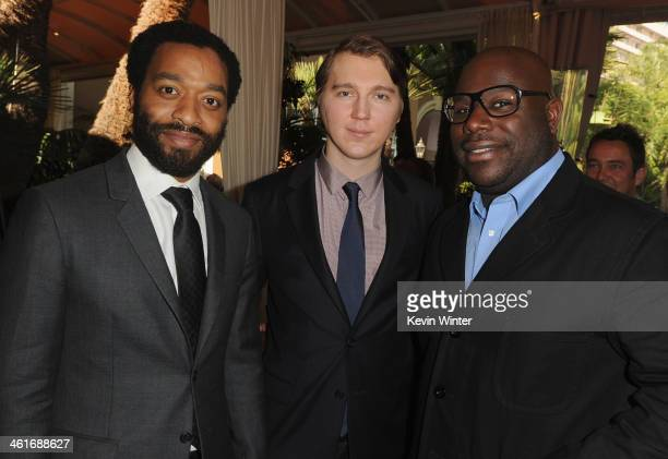 Actors Chiwetel Ejiofor and Paul Dano and director Steve McQueen attend the 14th annual AFI Awards Luncheon at the Four Seasons Hotel Beverly Hills...