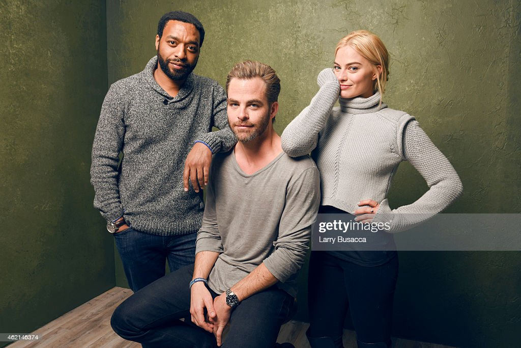 Actors Chiwetel Ejiofor, Chris Pine and Margot Robbie from 'Z for Zachariah' pose for a portrait at the Village at the Lift Presented by McDonald's McCafe during the 2015 Sundance Film Festival on January 24, 2015 in Park City, Utah.