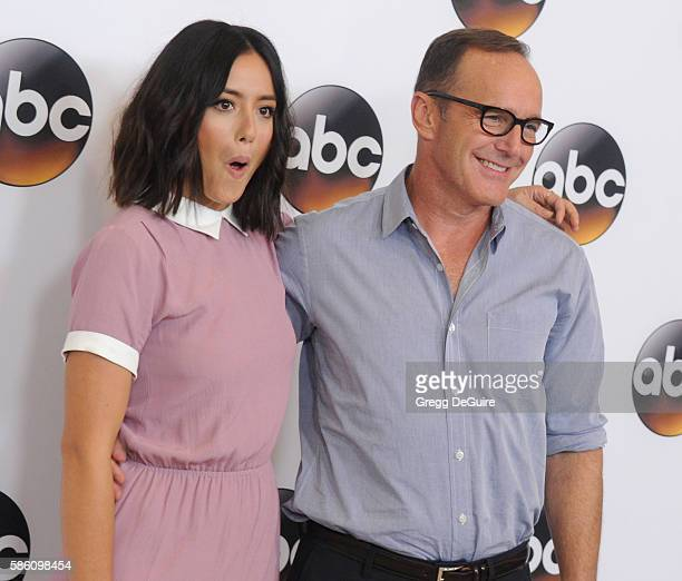 Actors Chloe Bennet and Clark Gregg arrive at the Disney ABC Television Group TCA Summer Press Tour at the Beverly Hilton Hotel on August 4 2016 in...