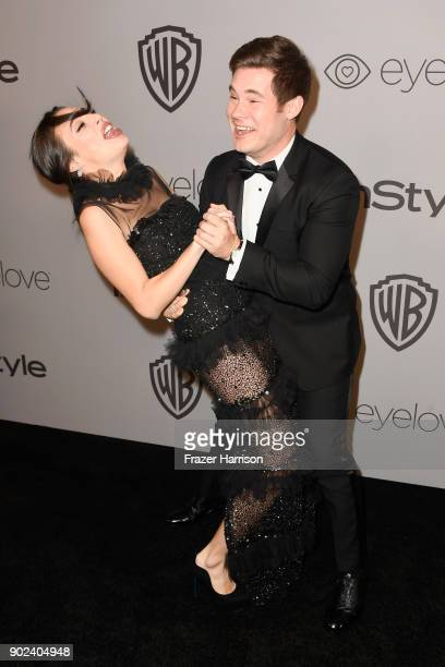 Actors Chloe Bridges and Adam DeVine attend 19th Annual PostGolden Globes Party hosted by Warner Bros Pictures and InStyle at The Beverly Hilton...