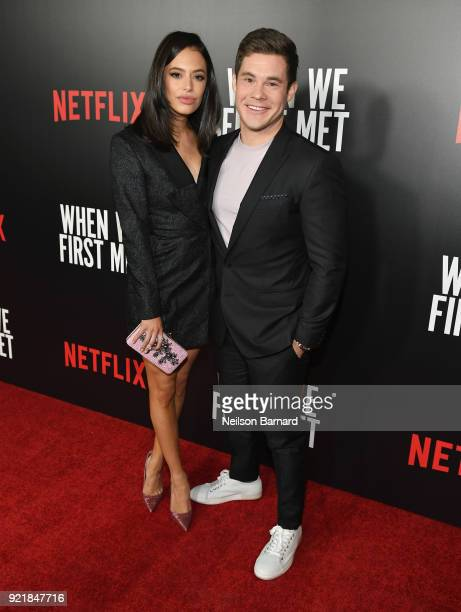 Actors Chloe Bridges and Adam DeVine attend Special Screening Of Netflix Original Film' 'When We First Met' at ArcLight Theaters at ArcLight...
