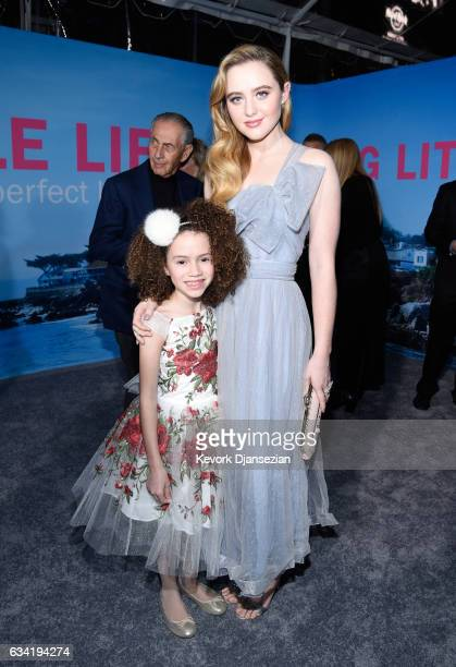 Actors Chloe Coleman and Kathryn Newton attend the premiere of HBO's Big Little Lies at TCL Chinese Theatre on February 7 2017 in Hollywood California