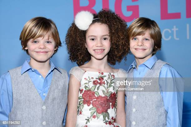 Actors Chloe Coleman Cameron Crovetti and Nicholas Crovetti attend the premiere of HBO's Big Little Lies at TCL Chinese Theatre on February 7 2017 in...