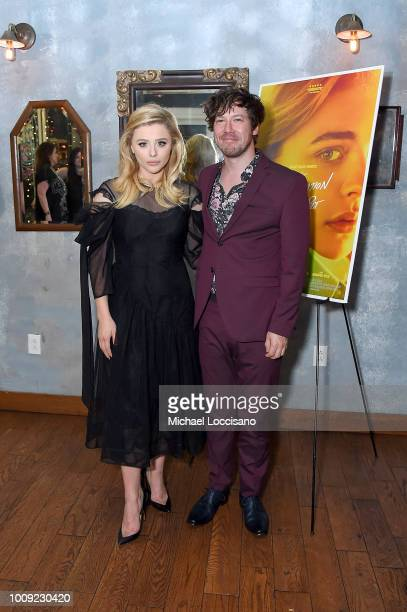 Actors Chloe Grace Moretz and John Gallagher Jr attend the after party for the New York screening of 'The Miseducation Of Cameron Post' at Cinema 123...