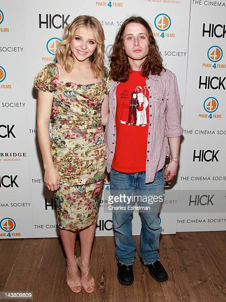 """Actors Chloe Grace Moretz and Rory Culkin attend The Cinema Society & Phase 4 Films screening of """"Hick"""" at the Crosby Street Hotel on May 3, 2012 in..."""