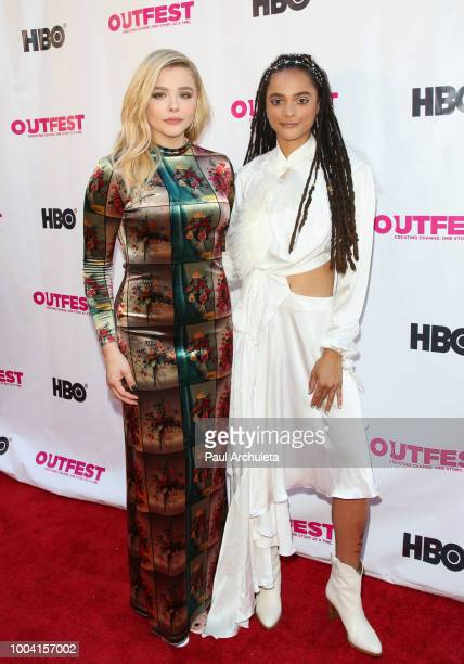 Actors Chloe Grace Moretz and Sasha Lane attend the 2018 Outfest Los Angeles LGBT Film Festival closing night Gala of 'The Miseducation Of Cameron...