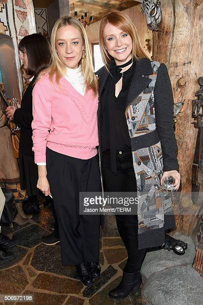 Actors Chloe Sevigny and Bryce Dallas Howard attend Glamour's Women Rewriting Hollywood Lunch at Sundance Hosted By Lena Dunham Jenni Konner and...