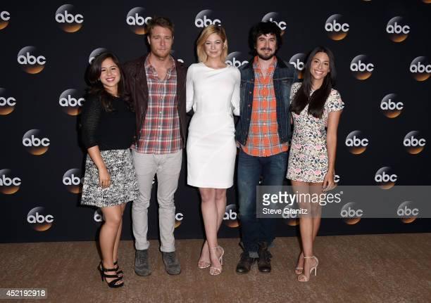 Actors Chloe Wepper Jake McDorman Analeigh Tipton Nicolas Wright and Jade CattaPreta attend the Disney/ABC Television Group 2014 Television Critics...