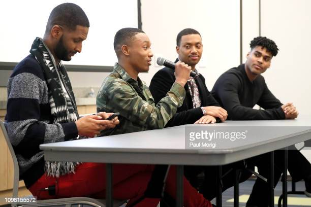 Actors Chosen Wilkins Dremon Cooper Arrington Foster and Emery Lavell Johnson speak at the Advanced Cooperative Communication Empowerment for People...