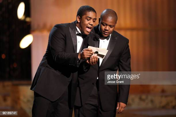 Actors Chris and Kyle Massey present the Emmy for Outstanding Performer in a Children's Series during the 36th Annual Daytime Emmy Awards at The...