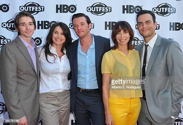 Actors Chris Bert Julia Ormond Jason Butler Harner Ileana Douglas and Cheyenne Jackson arrive to the 29th Annual Los Angeles Gay Lesbian Film...