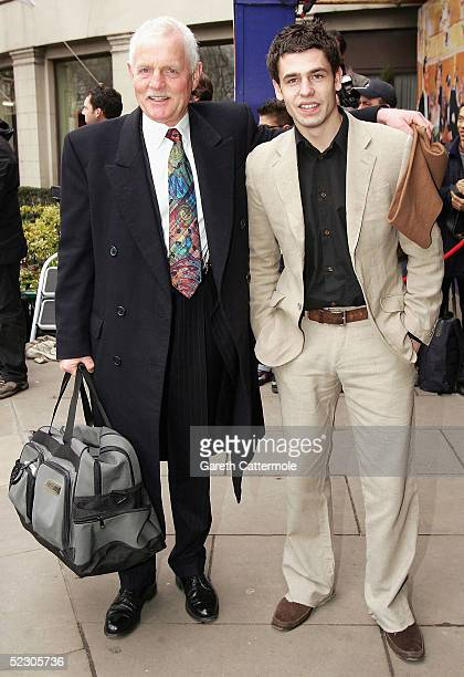 Actors Chris Chittell and Kelvin Fletcher arrive at the Television Radio Industries Club Awards at Grosvenor House Park Lane on March 8 2005 in...