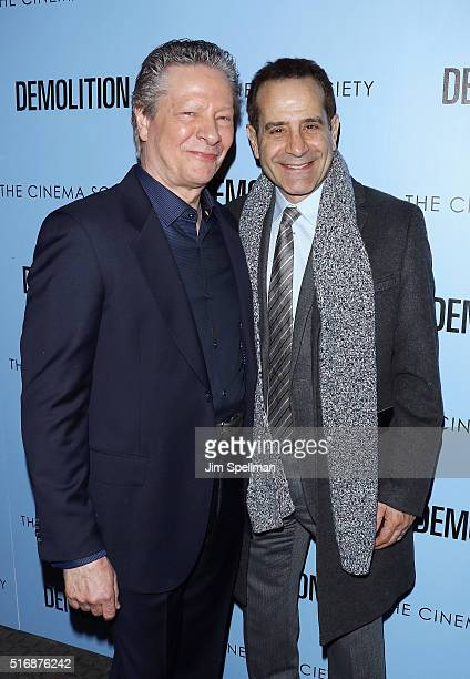 Actors Chris Cooper and Tony Shalhoub attend the Fox Searchlight Pictures with The Cinema Society host a screening of 'Demolition' at the SVA Theater...
