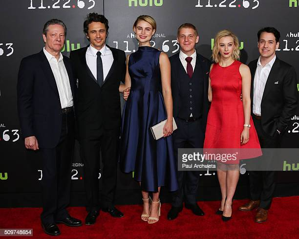 """Actors Chris Cooper, James Franco, Lucy Fry, Daniel Webber, Sarah Gadon and T.R. Knight attend the premiere of Hulu's new series """"11.22.63"""" at..."""