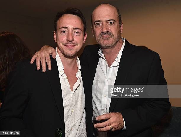 Actors Chris Coy and Matt Servitto attend the after party for the premiere of Cinemax's 'Banshee' 4th Season at UTA on March 31 2016 in Beverly Hills...