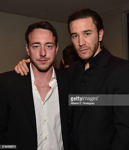 Actors Chris Coy and Tom Pelphrey attend the after party for the premiere of Cinemax's 'Banshee' 4th Season at UTA on March 31 2016 in Beverly Hills...