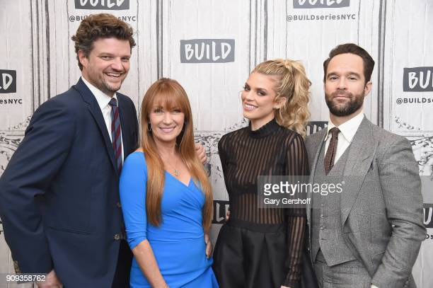 Actors Chris Diamantopoulos Jane Seymour AnnaLynne McCord and Matt Jones visit Build Series to discuss the TV comedy 'Let's Get Physical' at Build...
