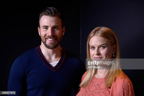 Actors Chris Evans and Alice Eve of Before We Go pose for a portrait during the 2014 Toronto International Film Festival on September 12 2014 in...