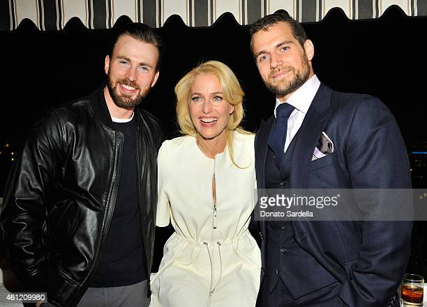 Actors Chris Evans Gillian Anderson and Henry Cavill attend the W Magazine celebration of the 'Best Performances' Portfolio and The Golden Globes...