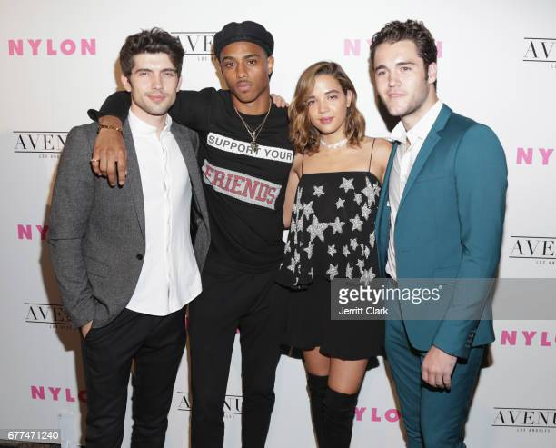 Actors Chris Galya Keith Powers Georgie Flores and Charlie DePew attend NYLON's Annual Young Hollywood May Issue Event With Cover Star Rowan...