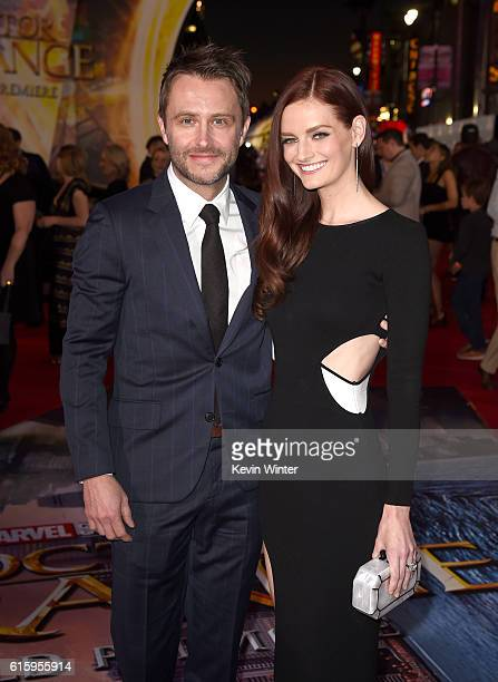 Actors Chris Hardwick and Lydia Hearst attend the premiere of Disney And Marvel Studios' 'Doctor Strange' on October 20 2016 in Hollywood California