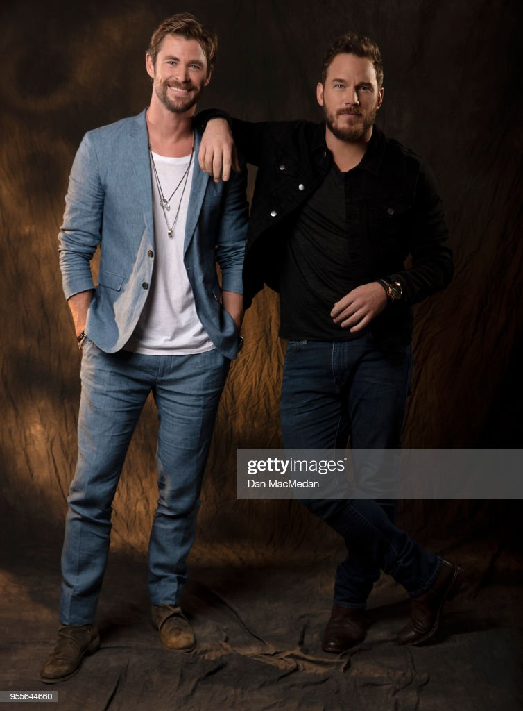 ¿Cuánto mide Chris Hemsworth? - Real height Actors-chris-hemsworth-and-chris-pratt-are-photographed-for-usa-today-picture-id955644660